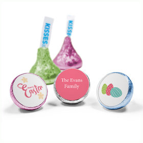 Personalized Easter Eggs & Flowers Hershey's Kisses (50 Pack)