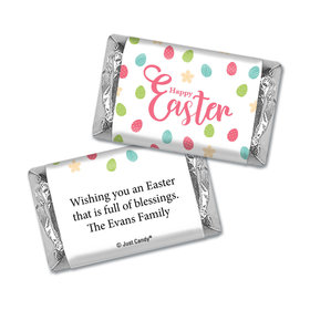 Personalized Easter Eggs & Flowers Mini Wrappers