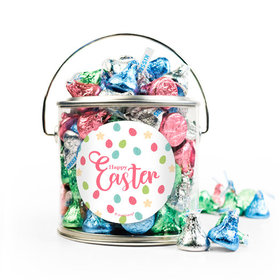 Easter Eggs & Flowers Silver Paint Can with Sticker - 1lb Spring Mix Kisses