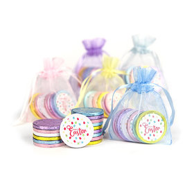 Easter Chocolate Coins in Assorted Organza Bags (5 bags)