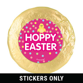 """Easter Pink Chick 1.25"""" Stickers (48 Stickers)"""