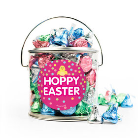 Easter Pink Chick Silver Paint Can with Sticker - 1lb Spring Mix Kisses