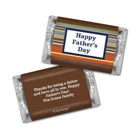 Personalized Father's Day Hershey's Miniatures Stripe Pattern