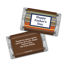 Personalized Father's Day Hershey's Miniatures Wrappers Stripe Pattern