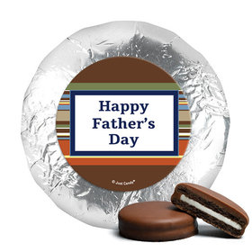 Father's Day Stripe Pattern Milk Chocolate Covered Oreos (24 Pack)