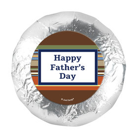 "Father's Day Stripe Pattern 1.25"" Stickers (48 Stickers)"