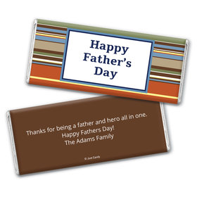 Personalized Father's Day Stripes Chocolate Bar Wrappers