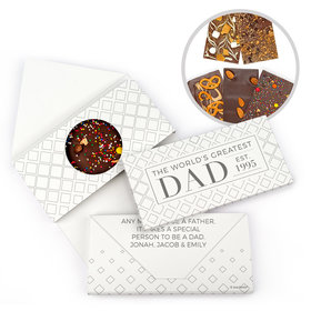 Personalized Classic Dad Father's Day Gourmet Infused Belgian Chocolate Bars (3.5oz)