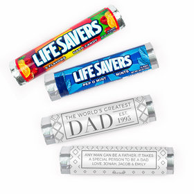 Personalized Father's Day Classic Dad Lifesavers Rolls (20 Rolls)