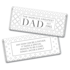 Personalized Father's Day Classic Dad Chocolate Bar & Wrapper