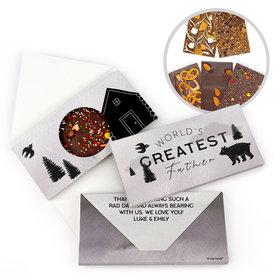 Personalized Wisdom & Wilderness Father's Day Gourmet Infused Belgian Chocolate Bars (3.5oz)