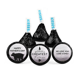 Personalized Father's Day Wisdom & Wilderness Hershey's Kisses (50 pack)
