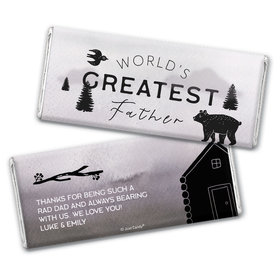 Personalized Father's Day Wisdom & Wilderness Chocolate Bar & Wrapper