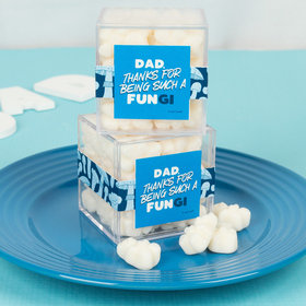 Personalized Father's Day JUST CANDY® favor cube with Gummy Bears