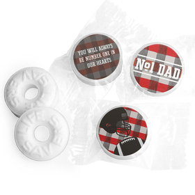 Personalized Football Dad Father's Day Life Savers Mints