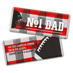 Personalized Father's Day Football Dad Chocolate Bar & Wrapper