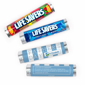 Personalized Father's Day Pillar of Strength Add Your Logo Lifesavers Rolls (20 Rolls)