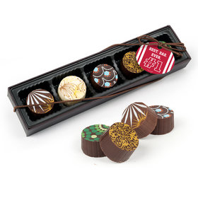 Personalized Father's Day #1 Dad Gourmet Belgian Chocolate Truffle Gift Box (5 Truffles)