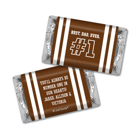 Personalized Father's Day #1 Dad Hershey's Miniatures Wrappers