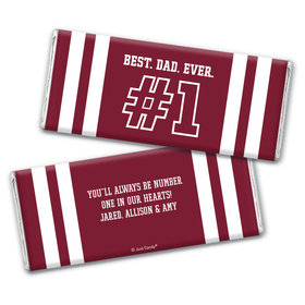 Personalized Father's Day #1 Dad Chocolate Bar & Wrapper