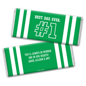 Personalized Father's Day #1 Dad Chocolate Bar Wrappers
