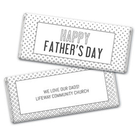 Personalized Father's Day Classic Pattern Chocolate Bar & Wrapper