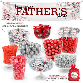 Personalized Pixel Perfect Father's Day Deluxe Candy Buffet