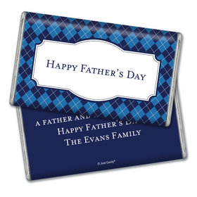 Personalized Father's Day Argyle Pattern Giant 1lb Hershey's Chocolate Bar