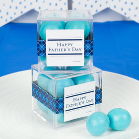 Father's Day JUST CANDY® favor cube with Premium Malted Milk Balls