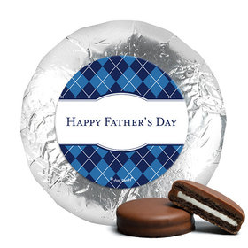 Father's Day Argyle Pattern Milk Chocolate Covered Oreos (24 Pack)