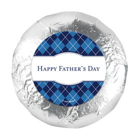 "Father's Day Argyle Pattern 1.25"" Stickers (48 Stickers)"