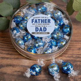 Personalized Father's Gift Gifts Large Plastic Tin with Lindt Truffles (24pcs) - Special Dad