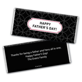 Personalized Father's Day Trellis Pattern Chocolate Bar Assembled
