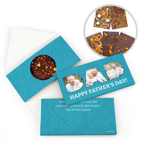 Personalized Photos Father's Day Gourmet Infused Belgian Chocolate Bars (3.5oz)