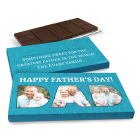 Deluxe Personalized Father's Day Photos Chocolate Bar in Gift Box (3oz Bar)