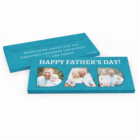 Deluxe Personalized Father's Day Photos Chocolate Bar in Gift Box