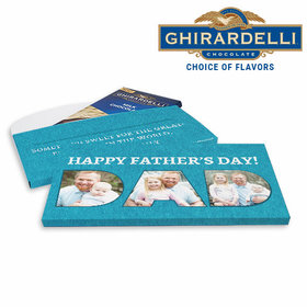 Deluxe Personalized Photos Father's Day Ghirardelli Chocolate Bar in Gift Box