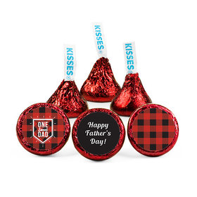 Personalized Father's Day Red & Black Plaid Hershey's Kisses (50 pack)