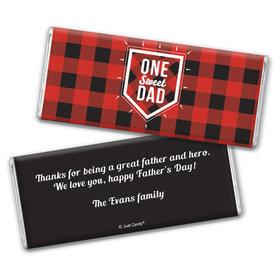Personalized Father's Day Red & Black Chocolate Bar