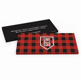 Deluxe Personalized Red & Black Fathers Day Chocolate Bar in Gift Box