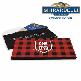 Deluxe Personalized Bada Bling Engagement Ghirardelli Chocolate Bar in Gift Box