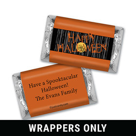 Happy Haunting Halloween Personalized Miniature Wrappers