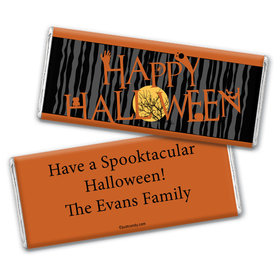Happy Haunting Personalized Candy Bar - Wrapper Only
