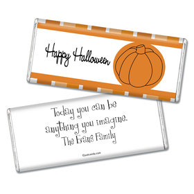 Halloween Personalized Chocolate Bar Simple Pumpkin