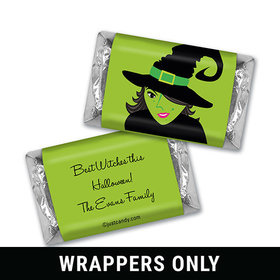 A Wicked Witch Halloween Personalized Miniature Wrappers