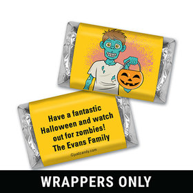 Zombie Treat Halloween Personalized Miniature Wrappers