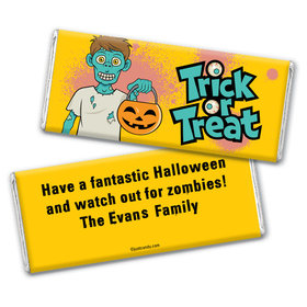 Zombie Treat Personalized Candy Bar - Wrapper Only