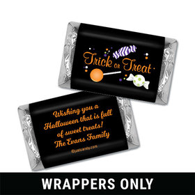 Sweet Spooky Treats Halloween Personalized Miniature Wrappers