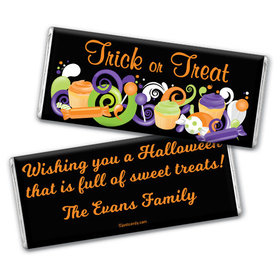 Halloween Personalized Chocolate Bar No Tricks Just Treats