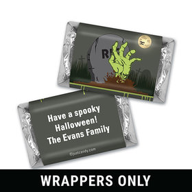A Grave Scene Halloween Personalized Miniature Wrappers